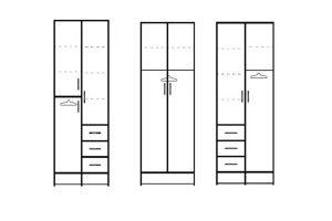 ארונות סקיצות 2 דלתות