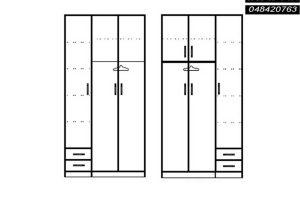 ארונות סקיצות 3 דלתות